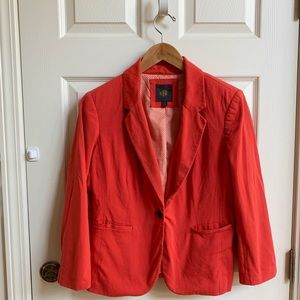 The Limited casual coral blazer, size M